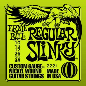 Encordoamento Guitarra 010 Ernie Ball Regular Slinky 2221