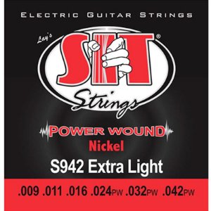 Encordoamento Guitarra 09 Sit Strings Power Wound Nickel S942