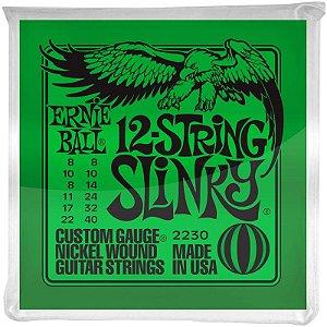 Encordoamento Guitarra 12 Cordas 08 Ernie Ball Slinky 2230