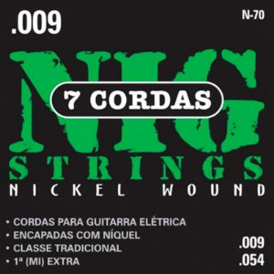 Encordoamento Guitarra Nig 009 N70 Traditional Class 7 Cordas