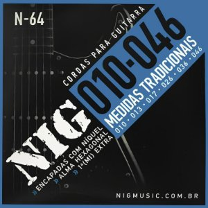 Encordoamento Guitarra Nig 010 N64 Traditional Class