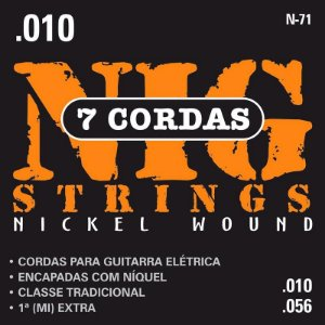 Encordoamento Guitarra Nig 010 N71 Traditional Class 7 Cordas