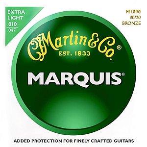 Encordoamento Martin Para Violão 010 Marquis M1000