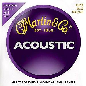 Encordoamento Martin Para Violão Aço 011 M175