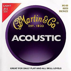Encordoamento Martin Para Violão Aço 012 M140