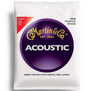 Encordoamento Martin Violão Aço Acoustic Phosphor Bronze Light 0.12 M540