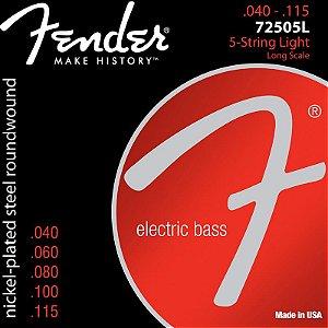 Encordoamento Para Contrabaixo 5 Cordas Aço 0.40 72505L Niquelado Fender
