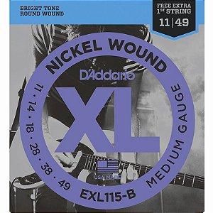 Encordoamento Para Guitarra 011-049 Daddario EXL115