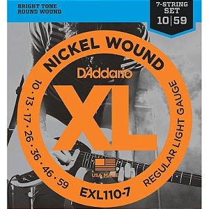 Encordoamento Para Guitarra 7 Cordas 10-59 Daddario Exl110-7