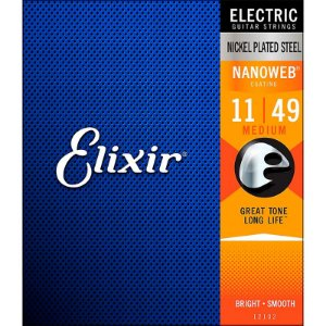Encordoamento Para Guitarra Elixir Nanoweb Anti Rust 011