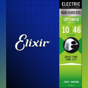 Encordoamento Para Guitarra Elixir Optiweb 010