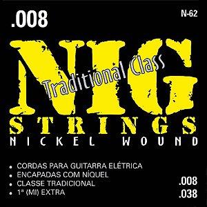 Encordoamento Para Guitarra Nig 008 N62