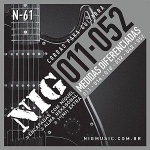 Encordoamento Para Guitarra Nig 011 N61