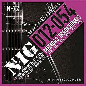 Encordoamento Para Guitarra Nig 012/054 N72