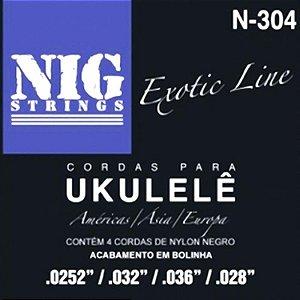 Encordoamento Para Ukulele Soprano Nig N304 Exotic Line Com Bolinha