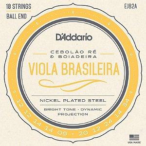 Encordoamento Para Viola Brasileira Daddario Ej82a Cebolão Ré E Boiadeira
