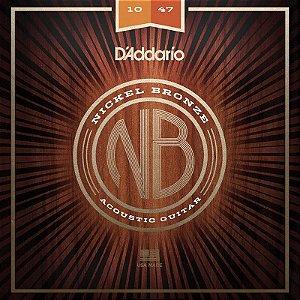 Encordoamento Para Violão 010 Aço Daddario Nickel Bronze Nb1047