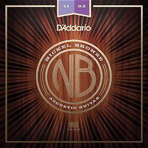Encordoamento Para Violão 011 Aço Daddario Nickel Bronze Nb1152