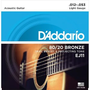 Encordoamento Para Violão 012 Aço Cordas Daddario Bronze EJ11 012