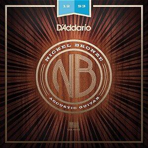 Encordoamento Para Violão 012 Aço Daddario Nickel Bronze Nb1253