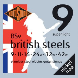Encordoamento Rotosound Para Guitarra 09 British Steels Bs9