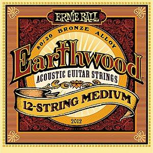 Encordoamento Violão 12 Cordas Aço 011 Ernie Ball 2012 Earthwood Medium