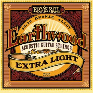 Encordoamento Violão Aço 010 Ernie Ball Earthwood 2006 Extra Light 80/20