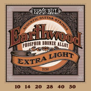 Encordoamento Violão Aço Ernie Ball Phosphor Bronze 010 Extra Slinky 2150