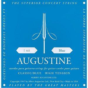 Encordoamento Violão Nylon Augustine Classic Blue Tensão Alta