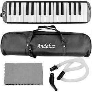 Escaleta Andaluz 32 Teclas Ft32k Preta Com Bag