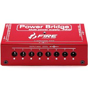 Fonte Fire power Bridge Pro Para 13 Pedais Vermelha