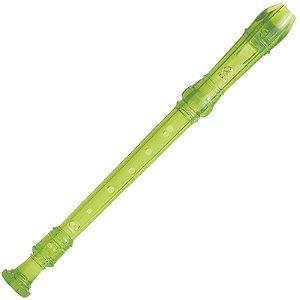 Flauta Yamaha Doce Soprano Barroca Em Dó Verde Yrs20bg