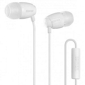 Fone De Ouvido Com Microfone Edifier P210 Branco In Ear