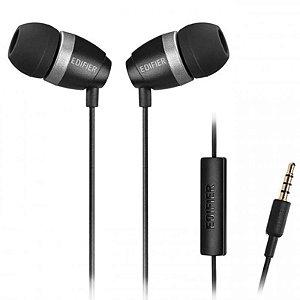 Fone De Ouvido Com Microfone Edifier P210 Preto In Ear