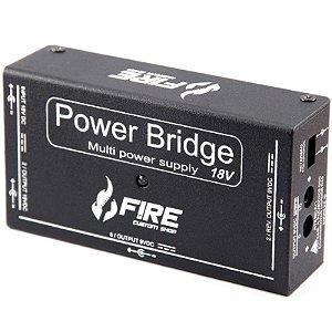 Fonte Para Pedal Fire Power Bridge 18v Para 12 Pedais