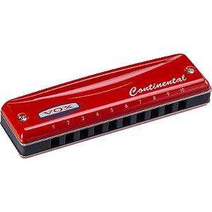 Gaita Harmonica Continental Vox Vch-2C Red Profissional