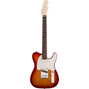 Guitarra Fender Americana Deluxe Telecaster Rw Aged Cherry C/ Case Tweed