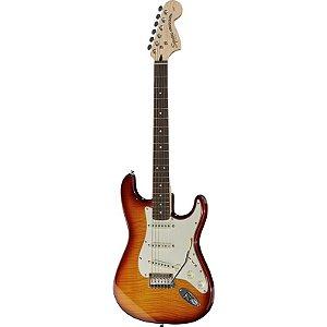 Guitarra Fender Squier Standard Stratocaster Fmt Amber Burst