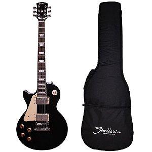 Guitarra Les Paul Shelter Nashville 305 Lh Preta Canhota Com Bag