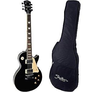 Guitarra Les Paul Shelter Nashville 305 Preta Com Bag