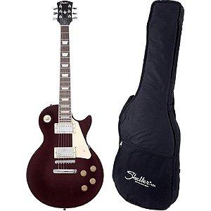 Guitarra Les Paul Shelter Nashville 305 Wine Red Com Bag
