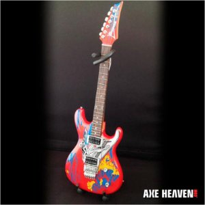Guitarra Miniatura Axe Heaven Silver Surfer Joe Satriani Js-601