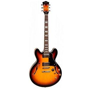 Guitarra Semi Acustica Hofma Hg289 Sunburst