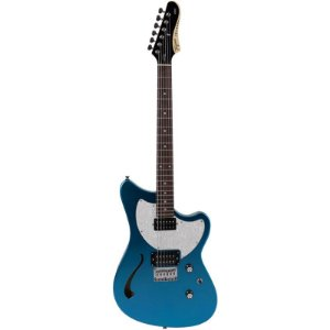 Guitarra Tagima Brasil Semi Acústica Jet Blues Azul Metálico