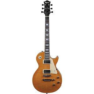 Guitarra Tagima Les Paul TLP Flamed Transparent Amber com Hard Case
