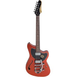 Guitarra Tagima Semi Acústica Jet Blues Deluxe Laranja Metálico