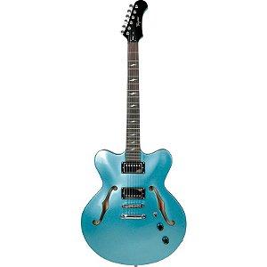Guitarra Tagima Semi Acústica Seattle Azul Metálico Com Hard Case