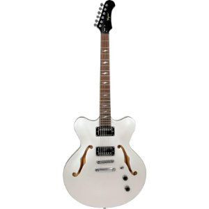 Guitarra Tagima Semi Acústica Seattle Branco Pérola Com Hard Case