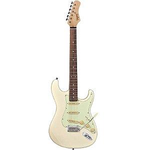 Guitarra Tagima Stratocaster Hand Made T-635 Classic Branco Vintage