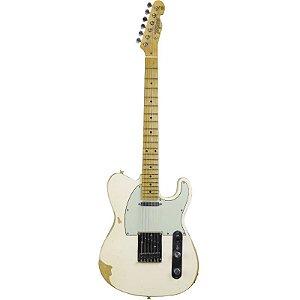 Guitarra Tagima T405 Antique Telecaster Hand Made In Brazil Branca